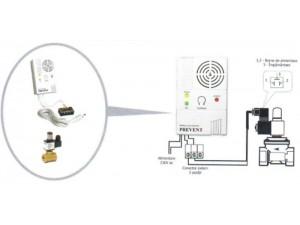 Detector de gaz metan Prevent 1279 cu electrovalva de 3/4, 5 ani durata de viata, echipament complet