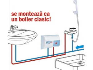 Boiler instant de apa Geyser Varianta In Line Combinata