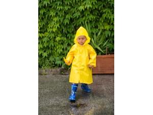 Jacheta impermeabila pentru copii KIDS GARDEN - culoare galbena (3-6 ani)