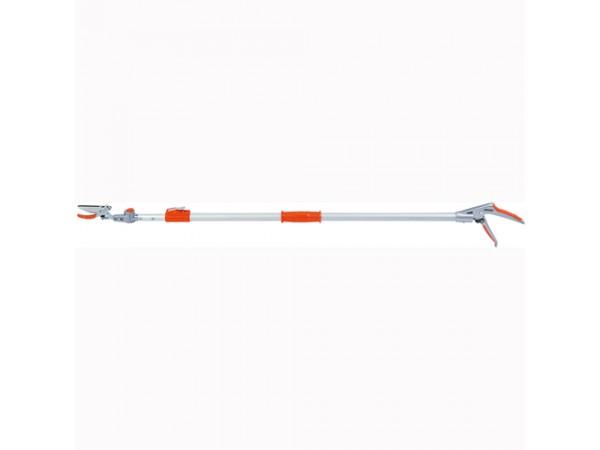 Foarfeca taie-prinde pentru taiat crengi cu cap orientabil, cu brat lung telescopic (130 - 200 cm)