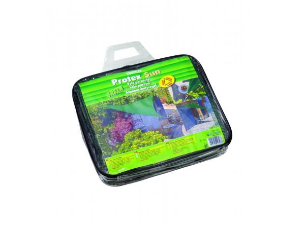 Panza pentru umbrire Protex Sun 85% grad de umbrire, 3,6 x 3,6 m, verde