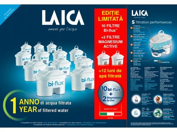 10 cartuse filtrante Bi-flux + 2 Magnesium Active