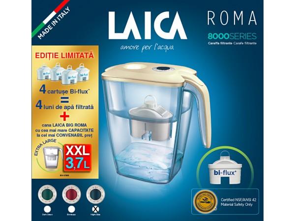 Pachet cana filtranta Laica BIG Roma + 4 cartuse filtrante de apa