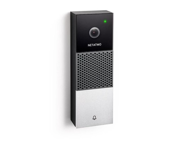 Sonerie usa Netatmo Smart Video Doorbell, Full HD, Weatherproof, LED infrarosu, WiFi
