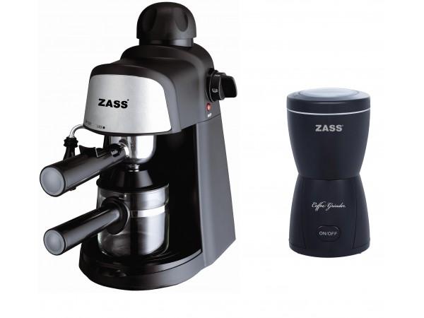 Pachet espressor Zass ZEM 05 cu rasnita Zass ZCG 05