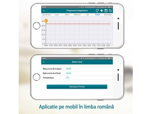 Termostat inteligent Poer si Gateway, 3 ani Garantie, aplicatie Android si Apple