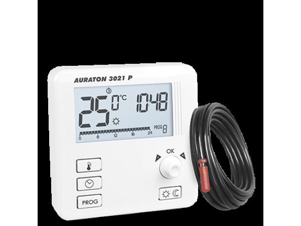 Termostat de pardoseala Auraton 3021 P, 5 ani Garantie, 3 temperaturi