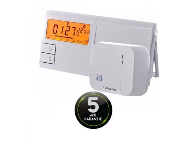 Termostat fara fir Salus 091 FLRF, 9 programe, 3 nivele de temperatura